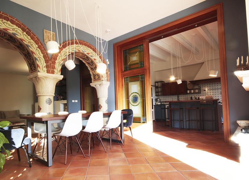 zona living zona sala da pranzo e cucina fulcro
